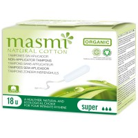 Masmi Organic Non Applicator or Digital Super Tampons