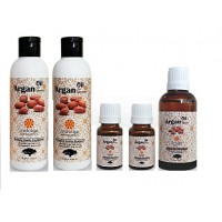 Krishkare Argan Oil Hair Fall Protection Kit From Morocco