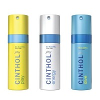 Cinthol Dive + Play + Energy Deodorant Spray (Buy 2 Get 1 Free)