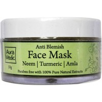 AuraVedic Anti Blemish Face Mask with Neem Tea Tree Basil