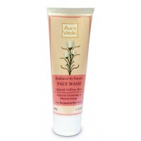 Auravedic Radiance By Nature Face Wash With Saffron, Almond, Rose