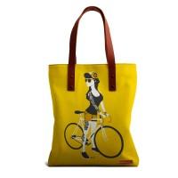 DailyObjects Bike Girl Tote Bag