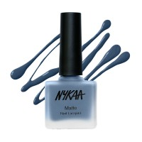 Nykaa Fall Winter Matte Nail Enamel - Blue Jellybean 128