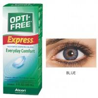 Freshlook 30 Day Lens Blue + Free 120ml Lens Solution