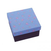 Paperholic Mauve Floral Print Fabric Gift/Storage Box