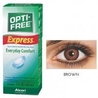 Freshlook 30 Day Lens Brown + Free 120ml Lens Solution