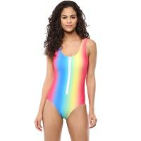 Blush Zip-Up Monokini - Rainbow