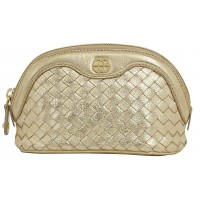Eske Penley Gold Cosmetic Case