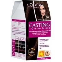L'Oreal Paris Casting Creme Gloss Hair Color - 323 Sonam's Dark Chocolate