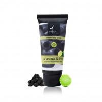 Natural Bath & Body Charcoal & Lime Cream Face Scrub