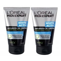 L'Oreal Paris Men Expert White Activ Charcoal Foam + Free Men Expert White Activ Charcoal Foam