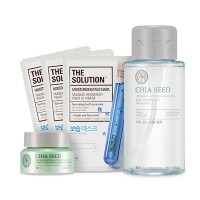 The Face Shop Chia Seed No Shine Hydrating Water Combo