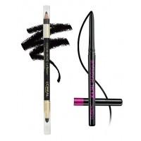 L'Oreal Paris Color Riche Le Smoky Eyeliner - Black Velour 201 + Free Kajal Magique