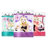 MaskerAide All Nighter + Pre-Party Prep + Beauty Rest'ore Facial Sheet Mask (Pack of 3)
