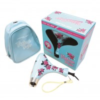 Corioliss Mini Vintage Blue Floral Hair Dryer