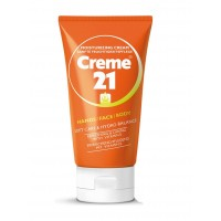 Creme 21 Hand Face and Body Moisturizing Cream with Vitamin E