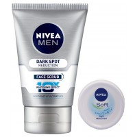 Nivea Men Dark Spot Reduction Face Scrub + Free Soft Cream