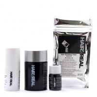 Hair4Real Hair Thickening Fiber Dark Brown Bottle with Refill Pack & Locking Spray