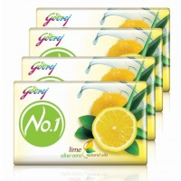 Godrej No.1 Lime & Aloe Vera Natural Oil Soap - Pack Of 4 (Rs 36 off)