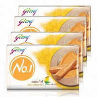 Godrej No.1 Sandal & Turmeric Soap (Pack Of 4)