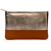 DailyObjects Gold Metallic Faux Leather Carry-All Pouch Medium