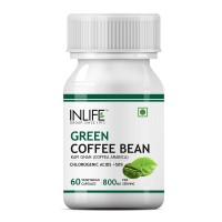 INLIFE Green Coffee Beans Extract 800MG 50% GCA (60 Veg. Capsules) Coffea Arabica Weight Supplement