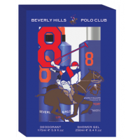 Beverly Hills Polo Club Men's Deodorant And Shower Gel No.8 Gift Set
