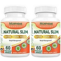 Morpheme Remedies Natural Slim - Garcinia, Triphala, Guggul For Weight Loss - 500mg Extract (Pack of 2)