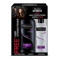 Buy Tresemme Hair Fall Defense Shampoo 580 ml With Conditioner 190 ml & Get Hair Straightener Free