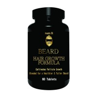 Healthvit Beard Facial Hair Supplement for Thicker and Fuller Beard Hair (60 Tablets)