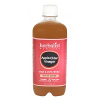 Herbalist Apple Cider Vinegar, Raw, Unprocessed And Unrefined With Mother Vinegar
