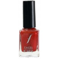 Faces Hi Shine Nail Enamel - Chilli Red