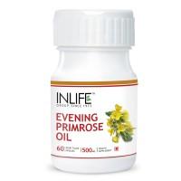 INLIFE Evening Primrose Extra Virgin Cold Pressed Oil, 60 Capsules, Female care