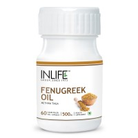 INLIFE Fenugreek Seed Oil 60 Vegetarian Capsules Sugar Balance and Womens Health