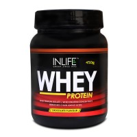 INLIFE Whey Protein Powder 1 lbs(Chocolate Flavour) Body Building Supplement