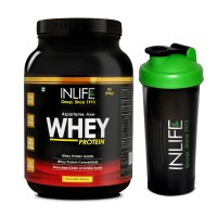 INLIFE Whey Protein Powder 2 lbs (Chocolate Flavour) Body Building Supplement