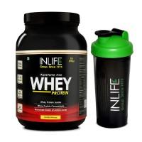 INLIFE Whey Protein Powder 2 lbs (Vanilla Flavour) Body Building Supplement