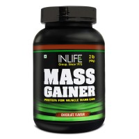 INLIFE Mass Gainer Powder 2 lbs, Chocolate Flavor For Muscle & Weight Gain