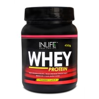 INLIFE Whey Protein Powder 1 lbs(Strawberry Flavour) Body Building Supplement