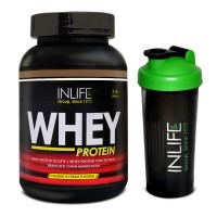 INLIFE Whey Protein Powder 2 lbs (Cookie and Cream Flavour) Body Building Supplement