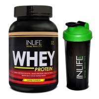 INLIFE Whey Protein Powder 2 lbs (Coffee Flavour) Body Building Supplement