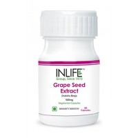 INLIFE GrapeSeed Extract 60 Veg Capsule With 70% Polyphenols, Potent Antioxidant