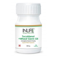 Inlife Tocotrienols And Wheat Germ Oil With Tocopehrols Vitamin E (30 Capsules)