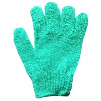 QVS Cosmetrix Exfoliating Gloves - Turquoise
