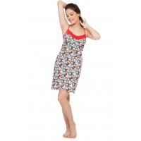 Soie Women's Printed Night Suits - Red