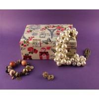 Paperholic Vintage Paris Design Fabric Jewelry Box