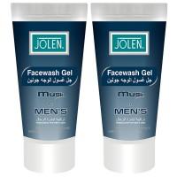 Jolen Musk Face Wash Twin Pack for Men