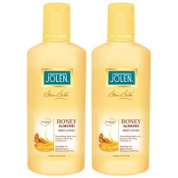 Jolen Honey & Almond Lotion Twin Pack (25% Extra)