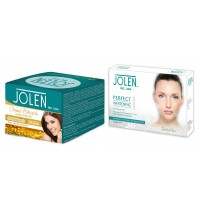 Jolen Gold Creme Bleach + Free Perfect Whitening Glow Facial Kit 5 Steps
