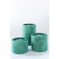 The White Window Textured Candles - Green Candle